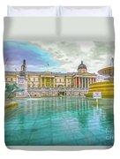 Trafalgar Square Fountain London 4 Duvet Cover