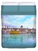 Trafalgar Square Fountain London 8 Duvet Cover