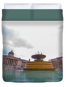 Trafalgar Square Fountain London 9 Duvet Cover