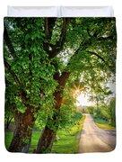 Trail Into Sunset Duvet Cover