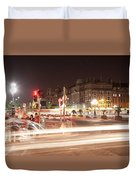 trail lines over the Liffey Duvet Cover