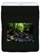 Trail To Chimney Top Duvet Cover