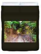 Trails Of Tracks Duvet Cover