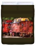 Train - Car - Pennsylvania Northern Region Caboose 477823 Duvet Cover