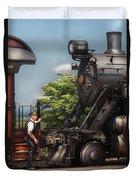 Train - Engine - Alllll Aboard Duvet Cover