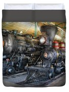 Train - Engine - Steam Locomotives Duvet Cover