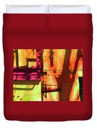 Train Abstract Variation Duvet Cover
