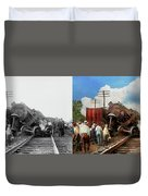 Train - Accident - Butting Heads 1922 - Side By Side Duvet Cover