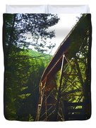Train Bridge Duvet Cover