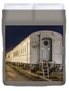 Train Car And Tracks Duvet Cover