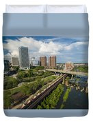 Train Cars Full In Richmond Va Duvet Cover