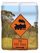 Train Engine Locomotive Sign Duvet Cover