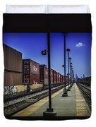 Train From Chicago Duvet Cover