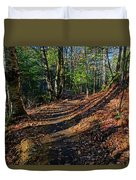 Train On The Adirondack Log Keene Valley Ny New York Duvet Cover