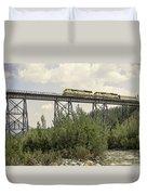 Train On Trestle Duvet Cover