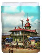 Train Station - Louisville And Nashville Railroad 1912 Duvet Cover