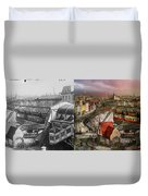 Train Station - Wuppertal Suspension Railway 1913 - Side By Side Duvet Cover