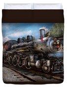 Train - Steam - 385 Fully Restored  Duvet Cover