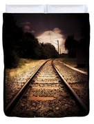 Train Tour Of Darkness Duvet Cover