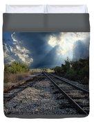 Train Track Junction In Charleston Sc Duvet Cover
