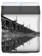 Train Track Reflections Duvet Cover