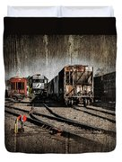 Train Yard Duvet Cover