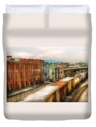 Train - Yard - Train Town Duvet Cover