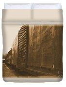 Trains 12 Albumen Border Duvet Cover
