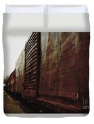 Trains 12 Retro Duvet Cover