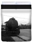 Trains 3 Blkwht Duvet Cover