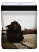 Trains 3 Retro Duvet Cover