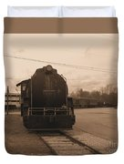 Trains 3 Sepia Duvet Cover