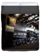 Trains 3007 C B Q Steam Engine Duvet Cover