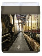 Trains Ancient Iron In The Barn Duvet Cover