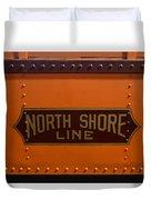 Trains North Shore Line Chicago Signage Duvet Cover