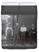 Trainsmen Duvet Cover