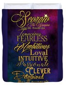 Traits Of A Scorpio Duvet Cover by Mamie Thornbrue