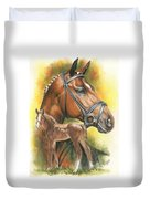 Trakehner Duvet Cover by Barbara Keith