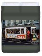 Tram 223, Graca, Lisbon, 1972 Duvet Cover