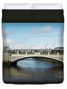 Tram On The Sean Heuston Bridge Duvet Cover