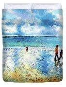 Tramore Beach Waterford Duvet Cover