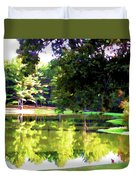 Tranquil Landscape At A Lake 1 Duvet Cover