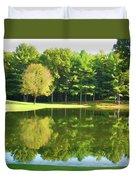 Tranquil Landscape At A Lake 2 Duvet Cover