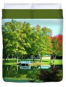 Tranquil Landscape At A Lake 4 Duvet Cover