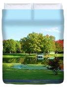 Tranquil Landscape At A Lake 5 Duvet Cover