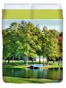 Tranquil Landscape At A Lake 8 Duvet Cover