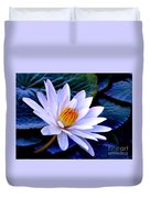 Tranquil Lily Duvet Cover