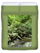 Tranquil Mountain Laurel Stream In The Great Smoky Mountains National Park Duvet Cover
