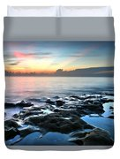Tranquil Sunrise At Coral Cove Beach Duvet Cover