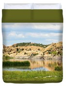 Tranquil Willow Lake Duvet Cover